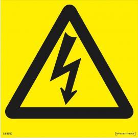 Varningsskylt. Elektrisk spänning