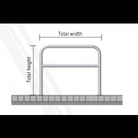 Sektionsräcke med tvärliggare (Ø48mm)
