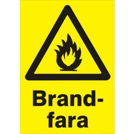 Varningsskylt. Brandfara