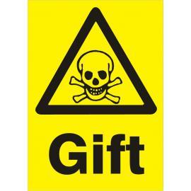 Varningsskylt. Gift