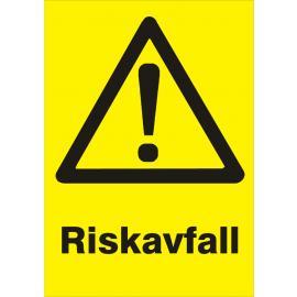 Varningsskylt. Riskavfall