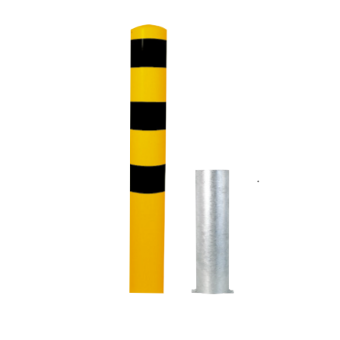Removable Steel Tube Bollards without Locking Mechanism