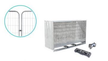 Byggstängsel Standard med runda hörn - Komplett paket (105m)