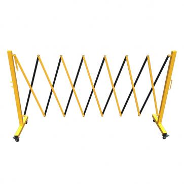 FlexiBarrier -Dragspelsgrind- med hjul (3.6m)