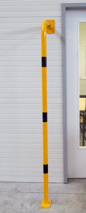 Båge -Solid- Ø 48 mm, i L-form, längd 2000 mm, i gult/svart