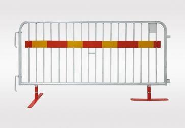 Kravallstaket med vridbar fot och reflex - Paket (57,5m)
