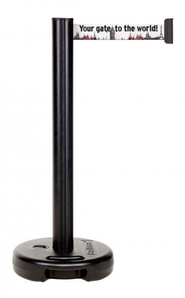 Beltrac Imprint Outdoor - Avspärrningsstolpe för utomhusbruk med eget tryck (3,7m)