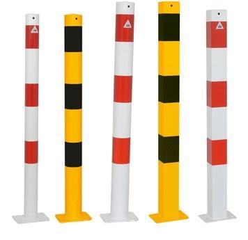 Stålpollare -Standard- med bultfäste (Ø60-102mm)