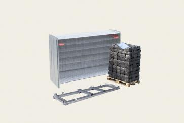 Byggstängsel Premium - Komplett paket 2,2m x 30