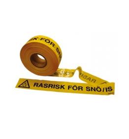 Avspärrningsband, rasrisk snö/is