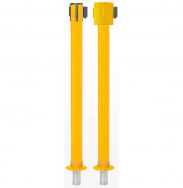 FlexiBarrier Belt Stanchion -SafetyPlus Removable- (3.4m/4.9m/10.6m belt)