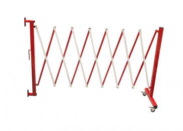 FlexiBarrier -Dragspelsgrind- med hjul & väggfäste (3.6m)