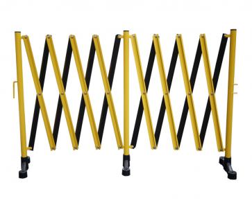 FlexiBarrier -Dragspelsgrind- med fot (5m)