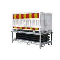 Avspärrningsstaket -Euro1 Basic- (40m komplett med panel, fot och transportställ)