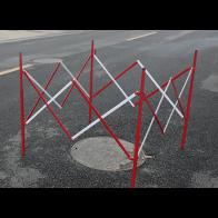 Ihopfällbar Avspärrningshage i stål (1.3x1.3m)