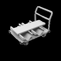 Transportvagn med hjul - förvaring av 12st avspärrningsstolpar