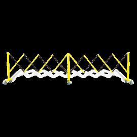 FlexiBarrier -Dragspelsgrind- med hjul (4.9m)