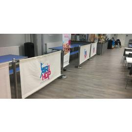 FlexiBarrier Cafe Banner Avgränsningssystem -Solid-
