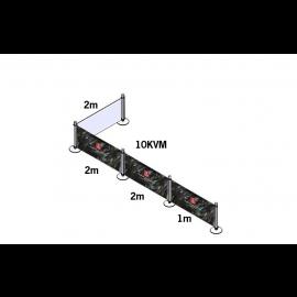 Cafe Banner -5x2m/10 kvadrat- (Komplett paket)