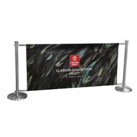 FlexiBarrier Cafe Banner Avgränsningssystem -Solid-