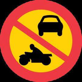 Förbudsskylt, Förbud mot fordonstrafik, utom moped klass 2 - C3