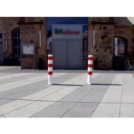 Löstagbar skyddspollare med marksockel & triangellås (Ø152mm)