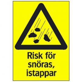 Varningsskylt, Risk för snöras, istappar