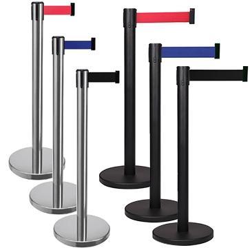 FlexiBarrier Belt Stanchion -Basic 300- (3m belt)