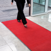 Entrance carpet (300x90cm - red or grey).