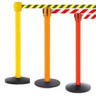 FlexiBarrier Belt Stanchion -SafetyPlus 10m- (10.6m belt)