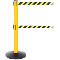 FlexiBarrier Belt Stanchion --SafetyPlus Double 3.4m-- (2x3.4m belt)