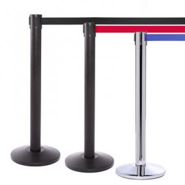 FlexiBarrier Belt Stanchion -Pro 550- (4.9m belt)