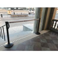 FlexiBarrier Afspærringsstolpe -Basic 250- (3 m bånd)