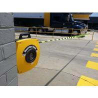 Carrete de barrera de seguridad retráctil - Cinta para barrera de gran resistencia con gancho (15-25 m)