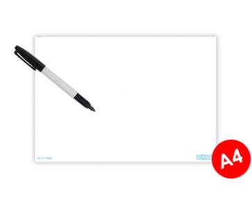 Whiteboard A4 passend in informatiebord