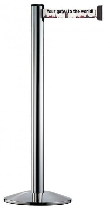Beltrac Imprint Classic - Afzetpaal met eigen bedrukking (2,3m-3,7m)