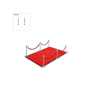 Entreepakket Basis Zilver (Complete set met rode loper, palen & koord)