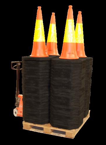 Verkeerkegel pilon 100 cm (100-stuks)