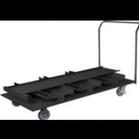 Transportwagen op wielen met plaats voor 18 afzetpalen