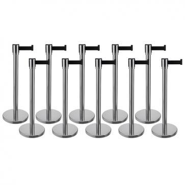 Avsperringspakke -Basic- 10x3 m uttrekkbart bånd