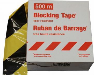 Avspärrningsband Premium - 500m obrytbart plastband i dispenser