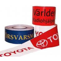 Sperrebånd med trykk (trykk i tre farger)
