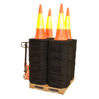 Trafikkeglepakke 100 cm (Helpall 100 stk)
