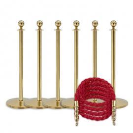 Køpakke -Messing- 6 stolper / 4 tau