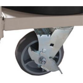Transportvogn med hjul for opptil 18 stk avsperringsstolper